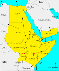 East Africa Map Regional Impact Addressing Mixed Migration Flows Ammi In East