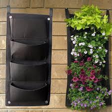 vertical wall garden planters pockets plant flowerpot hanging