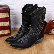 cheap mens motorcycle boots online get cheap mens black boots mid calf aliexpress com
