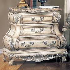 calidonian whitewash nightstand with marble top dcg stores