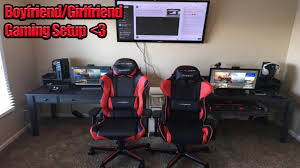Gaming Setups Gaming Couples Gaming Setup Matching Dxracer Chairs Benq