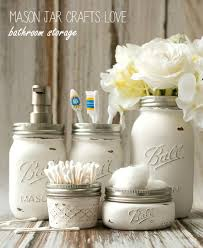 Bathroom Countertop Storage Ideas Mason Jar Bathroom Storage U0026 Accessories Mason Jar Crafts Love
