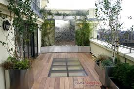 walk on skylight with recessed application glass flooring systems