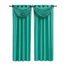white window scarves u0026 valances window treatments the home depot