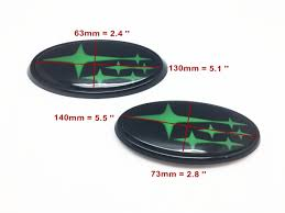 custom subaru emblem front u0026 rear green stars glowing glow badge emblem for 2015 up