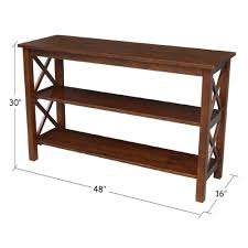 international concepts console table international concepts hton espresso console table ot581 70s