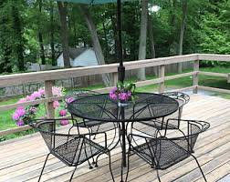 Vintage Wrought Iron Patio Furniture Etsy - Outdoor iron furniture