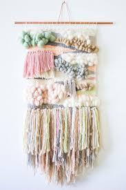 diy loom hand woven wall hanging house design ideas