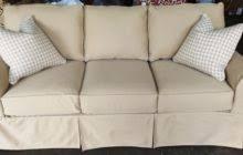 Slipcovers For Three Cushion Sofa Beige Cotton Slip Covers For Sectional Sofas With Three Cushions