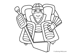 hockey sport coloring page for kids printable free coloring