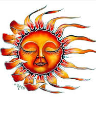orange and yellow sun design