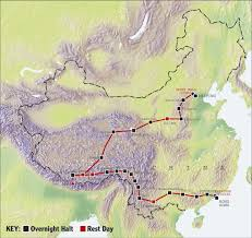 Map Of The Great Wall Of China by Hero Great Tour Of China