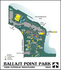 Map Of Tampa Bay Ballast Point Park Map City Of Tampa