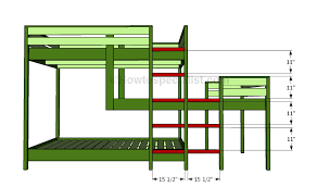 Plans For Triple Bunk Beds by Triple Bunk Bed Plans Howtospecialist How To Build Step By