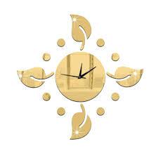 Gardenia Delivery Gardenia Flower Clock Wall Clocks Hollow Watch Diy 3d Acrylic