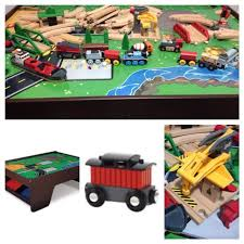 kidkraft train table compatible with thomas find more price drop kidkraft train table two brio train sets