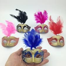 mardi gras feather masks on sale supper mini mask venetian masquerade feather mask party