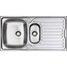 1 bowl kitchen sink stainless steel 1 1 2 bowl kitchen sink drainer 965 x 500 x 165mm deep