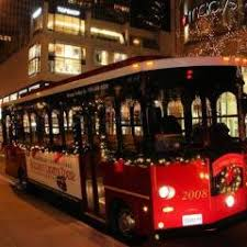 chicago trolley holiday lights tour a dazzling holiday trolley ride