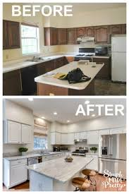 painting kitchen cabinets from wood to white how to paint kitchen cabinets simple made pretty 2021
