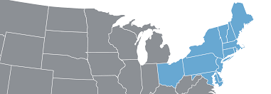 Map Of East Usa by Eastern Usa Hosted Business Phone Systems Save Up To 65 Crexendo
