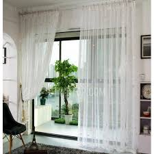 Gold And White Curtains Gold Smowflake Pattern White Sheer Curtains