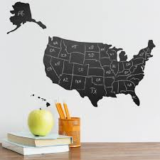 Usa Wall Map by Usa Map Chalkboard Wall Decal Vinyl