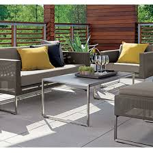 Patio Chair And Ottoman Set Crate Barrel Patio Furniture Modern Outdoor Lounge Morocco And 19