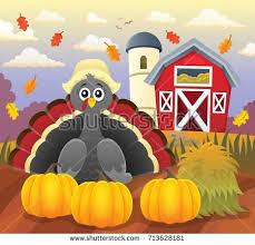 thanksgiving turkeys thematic set 1 eps10 stock vector 712935862