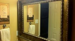 Custom Bathroom Mirror Brilliant Framed Mirrors Bathroom Large Modern Framed