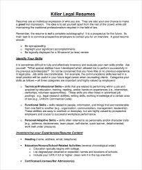 Samples Of Resume Pdf by Sample Legal Resume Template 13 Free Documents In Pdf Word