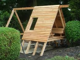nearly finished my daughters playhouse swings slide phew