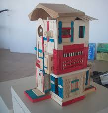 56 best craft stick houses images on pinterest craft sticks