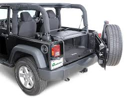 lowered 4 door jeep wrangler rage products rear interior sport rack for 07 18 jeep wrangler jk