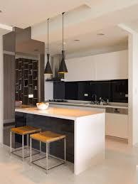 home design modern minimalist black white kitchen island design