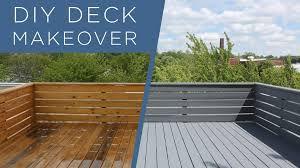 diy deck makeover using behr deckover youtube
