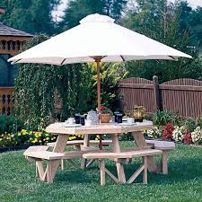 Luxcraft Outdoor Furniture by Luxcraft Wood Octagon Picnic Table Hostetler U0027s Furniture