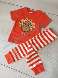 items similar to thanksgiving turkey pajamas turkey applique