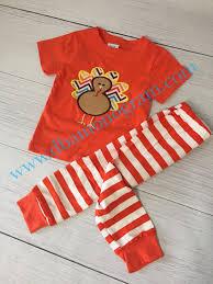 items similar to thanksgiving turkey pajamas turkey applique