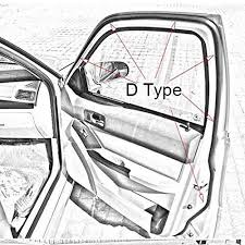 guarnizioni porte auto fafada 4m auto guarnizione della porta cava gomma adesivo strisce