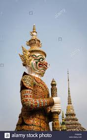 the yak or thai style giant demon statue in royal grand palace