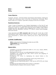 Best Resume Network Administrator by 100 Admin Resume Sample Doc Technical Resume Format Doc