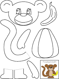 letter m monkey templates going to use this to make the game pin