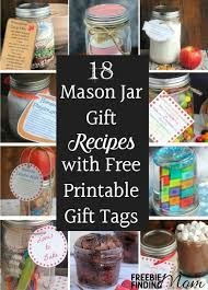 18 jar gift recipes with free printable gift tags