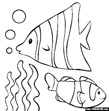 coloring page color pages of fish small coloring page color