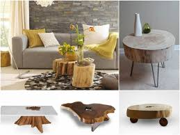 rustic living room tables tree trunk table the eye catcher in the rustic living room fresh