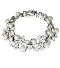 swarovski silver crystal bracelet images Ben amun vintage inspired pearl crystal bracelet thomas laine jpg