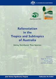 weed out weeds in the rainforest kuranda conservation reforestation with rainforest timber trees in the tropics and