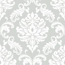 nuwallpaper 30 75 sq ft ariel black and white damask peel and