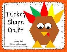 turkey activity craftivity geometry activities turkey time and